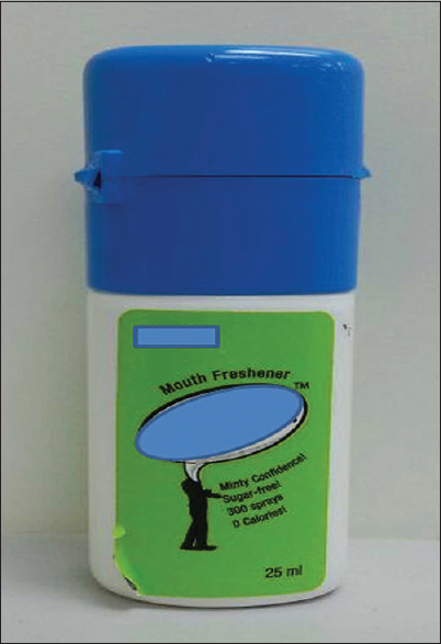 Figure 1: Image of the mouth freshener used for symptomatic treatment of halitosis