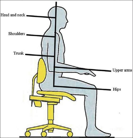 Figure 2: Ergonomically correct posture<sup>[27]</sup>